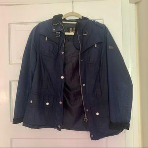 Classic Barbour Coat Navy Blue
